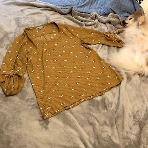 Dachshund Polka-dot blouse (dog not included haha)